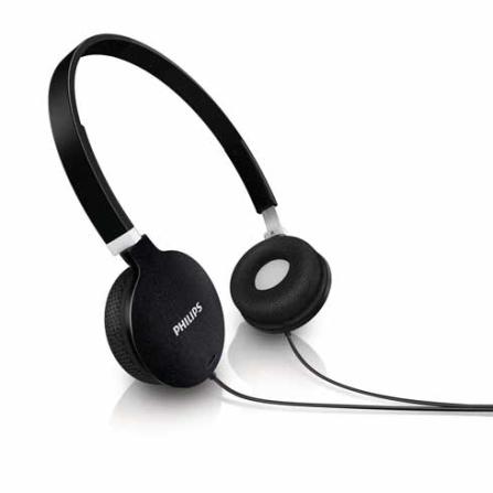 Fone de Ouvido Preto com conchas auditivas articuladas - Philips - SHL1700