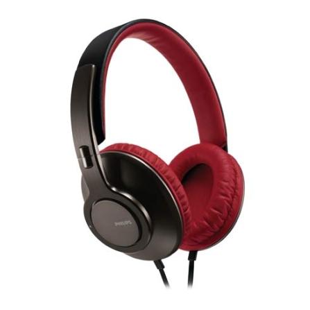 Fone de Ouvido Dobravel Philips, Preto e Vermelho, Headphone, 06 meses