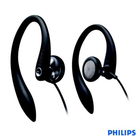Fone de Ouvido Preto In-Ear Esportivo - Philips - SHS3200_00, Preto, Intra-auricular, 06 meses