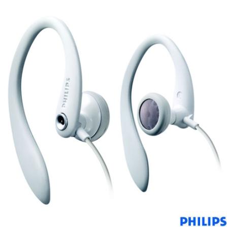 Fone de Ouvido In-Ear Esportivo - Philips - SHS3201_00, Branco, Intra-auricular, 06 meses
