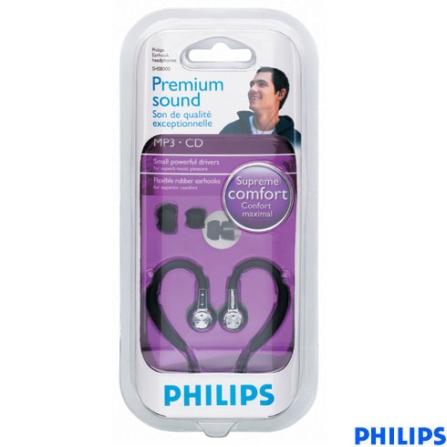 Fone de Ouvido In-Ear Esportivo Philips, Não se aplica, Intra-auricular, 06 meses