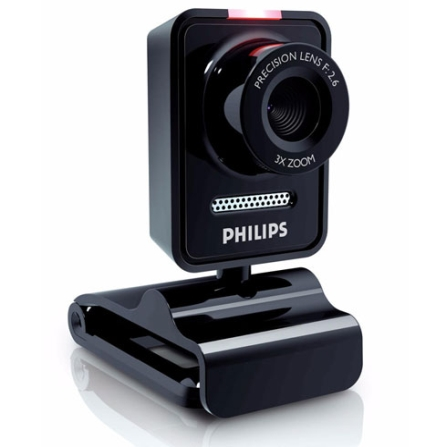 Webcam 1.3MP / Giro de 360° / Microfone Philips