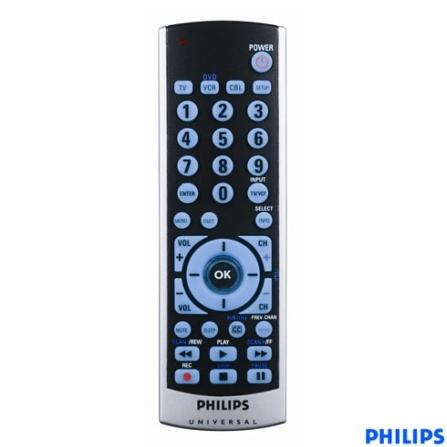 Controle Remoto Universal 3 em 1 TV/DVD e Videocassete ou Receptor de TV a Cabo - Philips - SRU503055