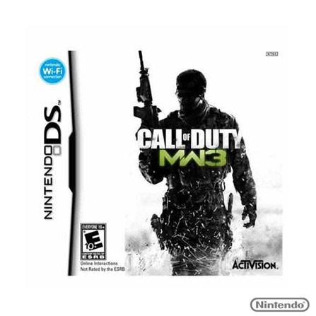 Jogo Call Of Duty: Modern Warfare 3 para Nintendo DS, Nintendo DSi/DS, Tiro em Primeira Pessoa, Game Card, 18 anos, Não especificado, Não especificado, 03 meses