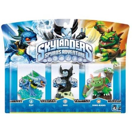Skylanders Pack 3 Zap Dino Rang Hex para Nintendo 3DS, Nintendo Wii, PlayStation 3, Xbox 360 - Positivo - PACK3DIRAHE