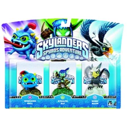 Skylanders Pack 3 Wrecking Stealth Sonic para Nintendo 3DS, Nintendo Wii, PlayStation 3, Xbox 360 - Positivo - PACK3WRESTES