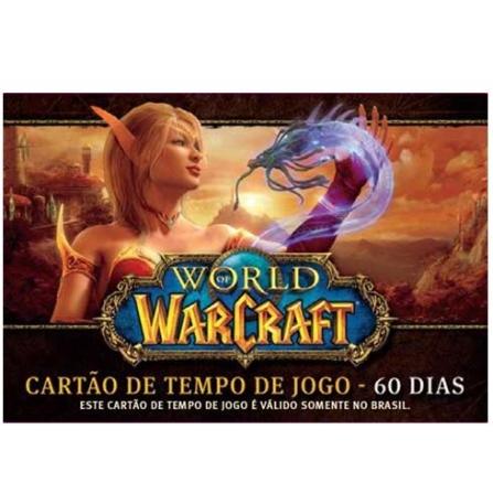 Cartão World of Warcraft - Time Card 60 dias para PC - WOWTIMECARD