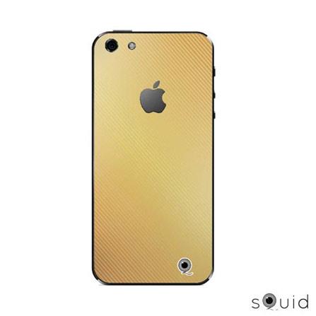 Adesivo Fashion Ouro velho Amarelo para iPhone 5 - Squid - FASHIONOURO, Dourado
