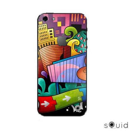 Adesivo para iPhone 5 Marcel Sampa Squid, Colorido