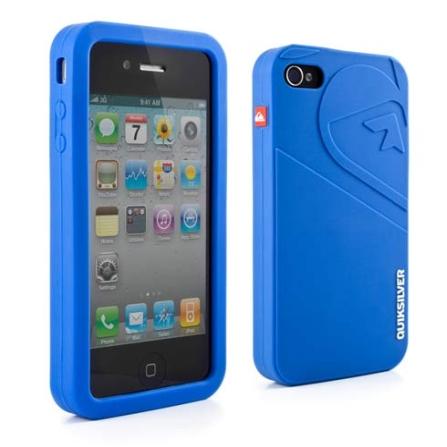 Capa de Silicone Azul para iPhone 4 - Quiksilver - 1483