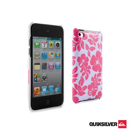 Capa para iPod Touch 4 Quiksilver, Branco e Rosa, 06 meses