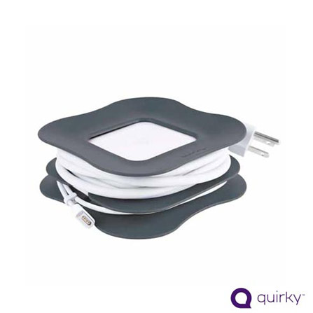 Organizador de Cabos Cinza para Macbook Air - Quirky - PRC45GY, Cinza, Limpeza