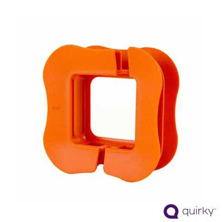 Organizador de Cabos Laranja para Macbook Air - Quirky - PRC45OR, Laranja, Limpeza
