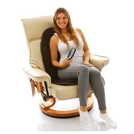 Assento Massageador RM-AM2602 Relaxmedic com 5 Modos de Massagem, Adaptador para Carro e Timer
