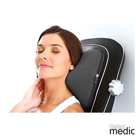 Assento Massageador Shiatsu Gold Premium RM-AS9601 Relaxmedic com Massagem Shiatsu Rolling, Massagem 3D e Vibração