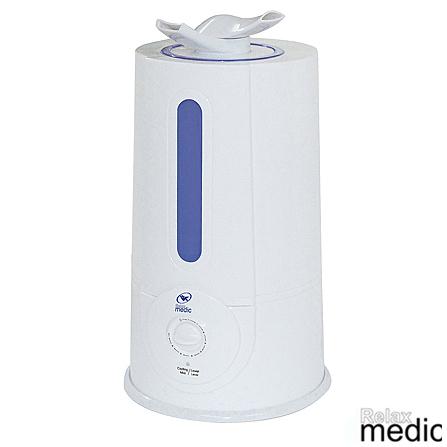 Umidificador de Ar Relaxmedic  4 Litros com Desligamento Automático - RM-HA15, 110V, 220V, 04 Litros, 30 W, 60 Hz, Branco, 1 ano, 7898023117811 (110V) / 7898023117828 (220V)