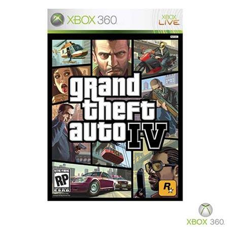 Jogo GTA Grand Theft Auto IV para XBOX 360