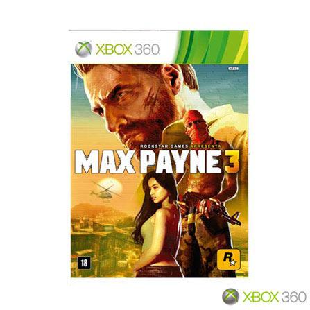 Jogo Max Payne 3 para Xbox 360, Não se aplica, Xbox 360, Tiro em Terceira Pessoa, DVD, 18 anos, Não especificado, Não especificado, 06 meses