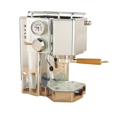 Máquina de Café Espresso em Vidro Temperado e Aço Inoxidável / Mecanismo de Aquecimento de Xícara - Glass Line Russell H, 110V