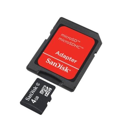 Cartão de Memória 4GB Preto - Sandisk - SDQM004GB35A