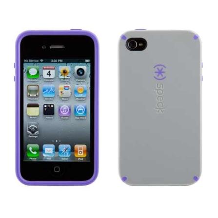 Capa Rígida para iPhone 4 - Speck, Cinza, 06 meses