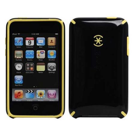 Capa de Plástico Preta e Amarela para iPhone 3° Geração - Speck - SKIPH3GCNDYL, Preto e Amarelo, 03 meses