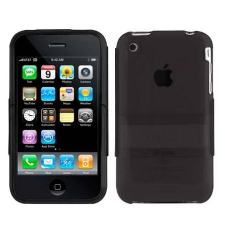 Capa Preta Emborrachada para iPhone 3° Geração - Speck - SKIPHG3BLSEE