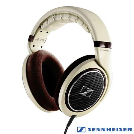 Fone de Ouvido Sennheiser Headphone Bege - HD 598, Bege, Headphone, 24 meses