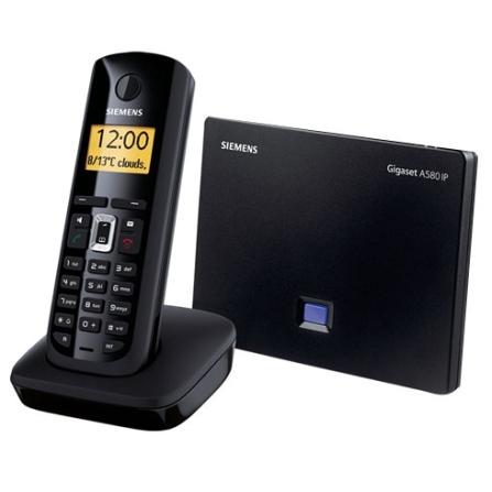 Telefone sem Fio 1.9GHZ DECT 6.0 / Híbrido Multi-Linhas / Até 6 linhas VoIP Sem PC / Viva-Voz / Preto - Gigaset Siemens