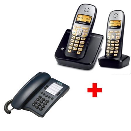 Telefone sem Fio Digital 1.9GHz com Identificador de Chamada / Viva voz e Dect 6.0 Gigaset CL6010 + Ramal sem Fio Digital 1.9GHz