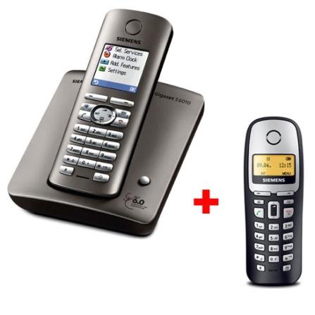 Telefone sem Fio Digital com Display Colorido, Identificador de Chamada, Viva-voz e Dect 6.0 S6010 Gigaset + Ramal sem Fio Digit