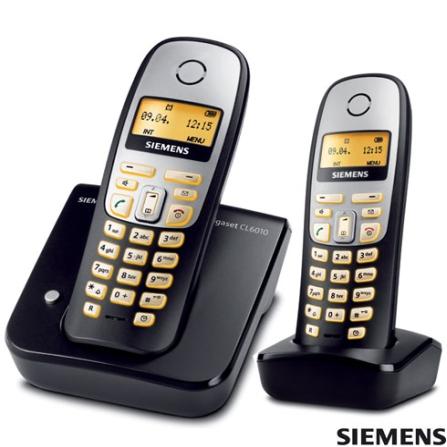Telefone sem Fio Digital 1,9GHz com Identificador de Chamada, Viva voz e Dect 6.0 Gigaset CL6010 + Ramal sem Fio Digital 1,9GHz