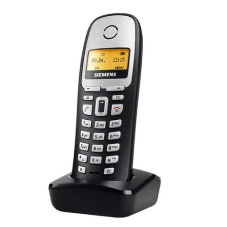 Ramal sem Fio 1.9GHZ DECT 6.0 / Identificador de Chamada / Display com Data e Hora / Preto - Gigaset Siemens - RAMALC60