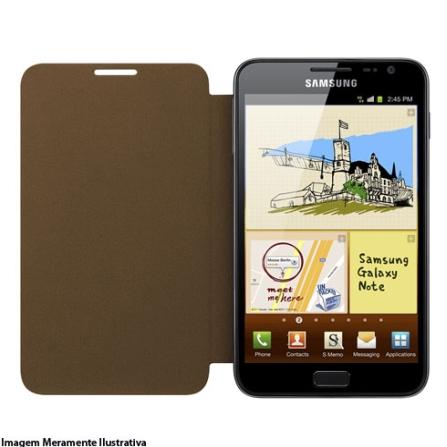 Capa Flip Samsung para Galaxy Note Marrom