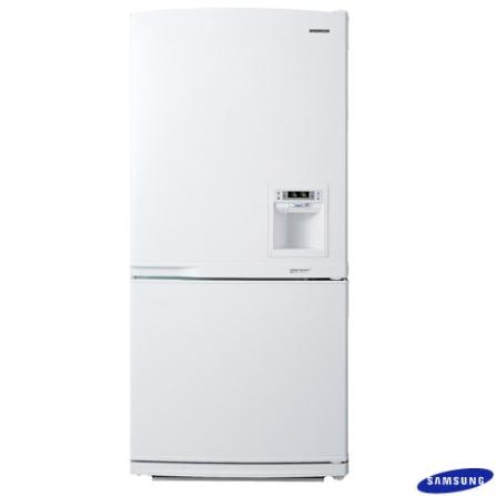 Refrigerador 2 Portas 551L Frost Free com Dispenser de Água na Porta - Bottom Freeze Samsung - 629ECSWC, 110V, 220V, LB, 551 Litros, 02 Portas, Acima de 500 litros
