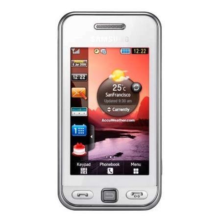 Celular GSM Touch Star Branco Samsung + Chip Claro