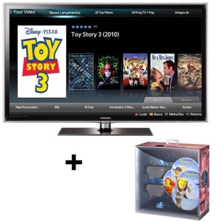 Smart TV LED D6000 40'' 3D + Kit 3D Samsung, VD