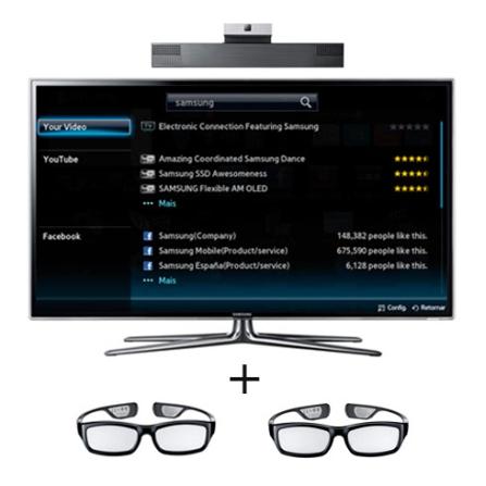 LED 40'' 3D + Câmera + Óculos 3D Samsung, VD