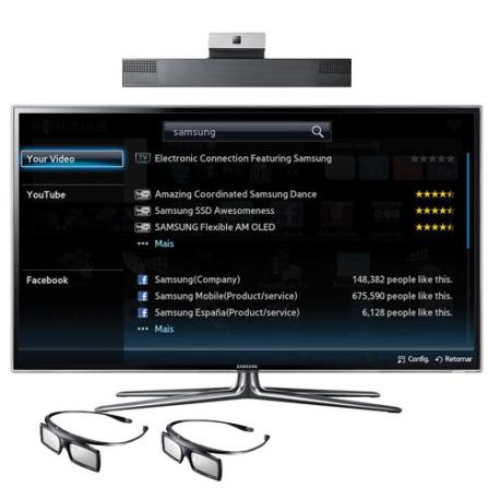 Smart LED 40'', 3D Full HD e Web Browser Samsung, VD
