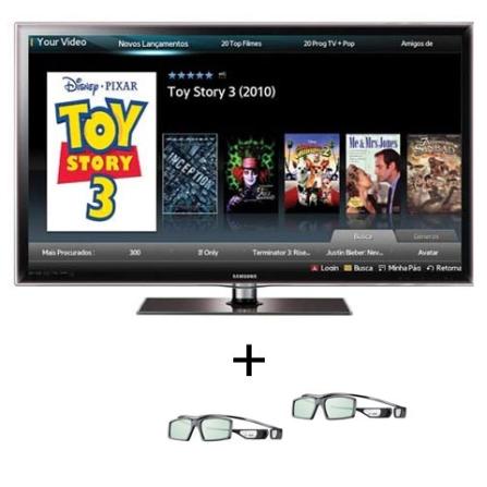 Smart TV LED Samsung D6000 com 46
