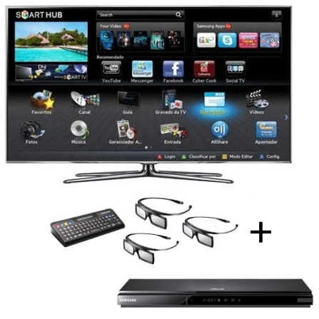 Smart TV LED D8000 com 46