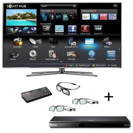 Smart TV LED Samsung D8000 com 46