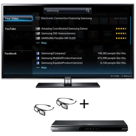 Smart TV LED D6900 com 55
