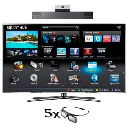 LED 55'' 3D +Câmera de Comunicação +Kit 3D Samsung, VD