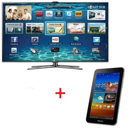 TV Slim LED Samsung ES7000 com 55