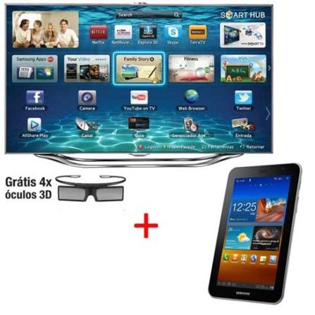 Smart TV Slim LED Samsung UN55ES8000 com 55