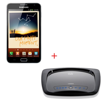 Tablet Samsung Galaxy Note + Roteador Wireless
