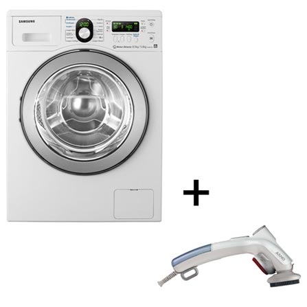 Lavadora e Secadora de Roupa + Steamer Portátil, LB