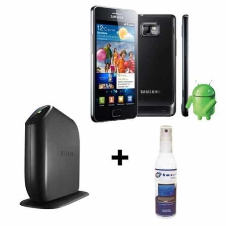 Smartphone Samsung Galaxy SII + Roteador+ Limpador