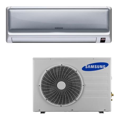 Condicionador de Ar Split Crystal 18000Btus / Eletrônico / Quente e Frio / Prata - Samsung - CJAQ18ESBTXX, 220V, LA, 18.000 BTUs, Split, 12.000 a 18.500 BTUs